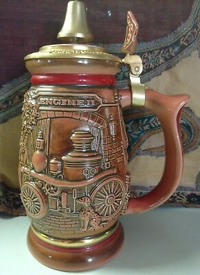 1989 Avon Stein Tribute to American Firefighters Truck Limited Numbered Ceramic