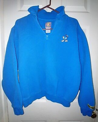 Rare Planet Mars Blue M&Ms Pullover Jacket Zipper Medium Chocolate Lover Candy