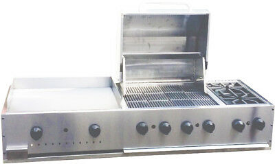 "New. 60"" Outdoor BBQ combination Unit, griddle, grill & 2 burners. Made in USA."