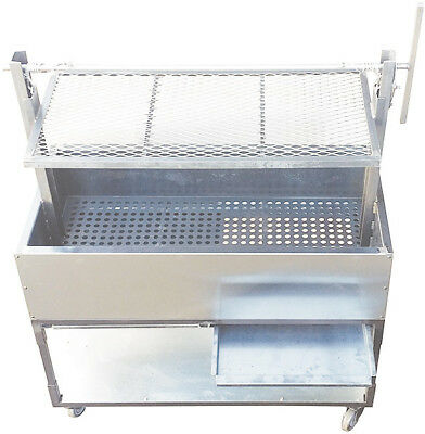 "New. 48"" Argentinian Raised Charcoal Grill. Made in USA by Ekono. PRICE REDUCED"