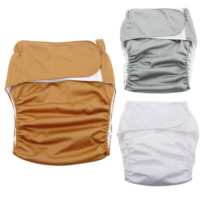 Qa_ Reusable Adult Cloth Diaper Nappy Pants For Incontinence Bedwetting Comfy