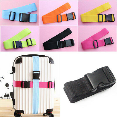 QA_ HK- Heavy Duty Adjustable Travel Luggage Strap Suitcase Belts Buckle Acces