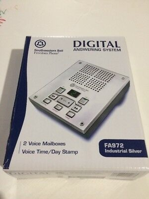 Digital Answering System Southwestern Bell FA972 Industrial Silver