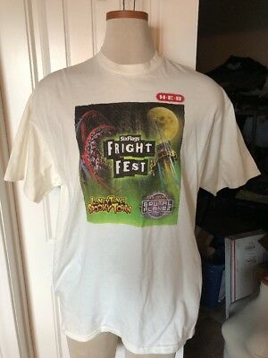 vintage h e b six flags fright service customer t shirt 100 cotton size xl heb