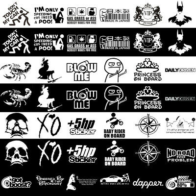 JDM Funny Car Sticker Lowered Window Truck Boat Bumper Vinyl Decal Waterproof