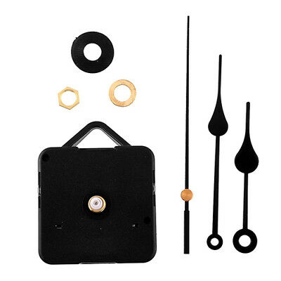 Qa_ Silent Retro Quartz Clock Movement Black Hands Mechanism Parts Diy Tool Fa