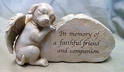 "Dog Pet Memorial Inspiration Funeral Garden ""Sculpture"" Decorative Ornament- A"
