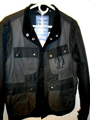 Barbour White Mountaineering Kirknasu Wax Cotton Jacket NWT UK Large $549 Black