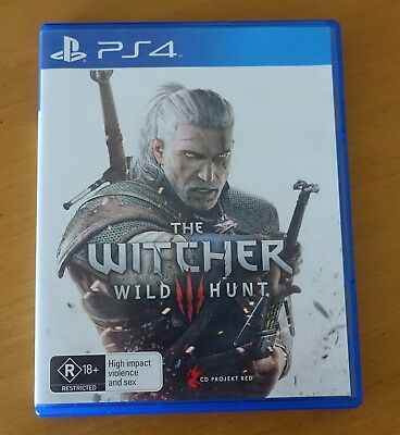 The Witcher Wild Hunt Game Playstation 4 Ps4 Fast Post From Bris