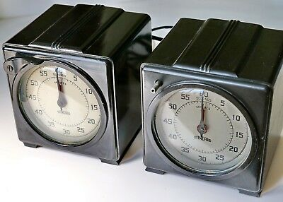 Two Precission Lab or Darkroom Timers, mfg. by The Standard Electric Time Co.