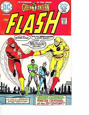 The Flash #225 Reverse Flash, Green Lantern 1973 High Grade, Unrestored!