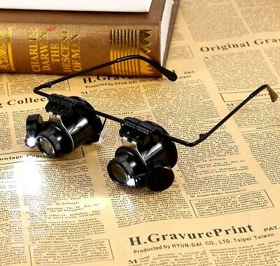Magnifier Loupe for Coins and banknotes Dual Lens LED lights batteries included