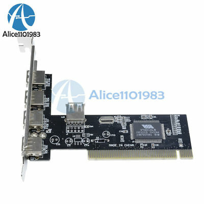 High Speed 480Mbps 5 Port USB 2.0 PCI Hub Card Controller Adaptor Module L70