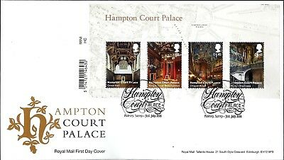 Gb Fdc 2018 Hampton Court Palace Stamps Miniature Sheet Retail Booklet On Fdc
