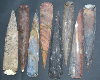 """*** 10"""" Flint Spearhead Arrowhead OH Collection Project Point Knife Blade ***"""