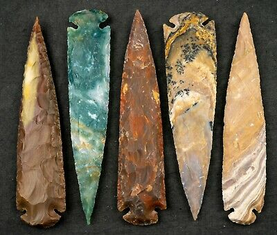 "*** 9"" Flint Spearhead Arrowhead OH Collection Project Point Knife Blade ***"