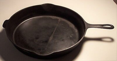 """vintage Griswold Cast iron skillet 12 Erie Pa USA 719 heat ring large block 13"""""""