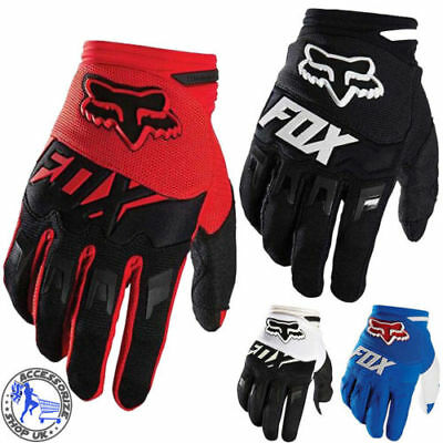 MENS Womens FOX Full Finger Cycling Bike Motorcycle Motorcross Offroad Gloves