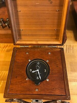 Vintage Waltham A-5 Us Army Air Corps Military Aircraft 8 Day Clock With Box
