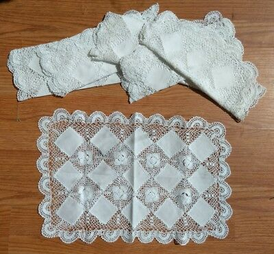 White Lace Placemats. Set of 6