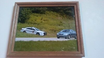 "PENNSYLVANIA STATE POLICE TROOPER Ford Sedan Car Picture Photo ""RADAR"" PSP"