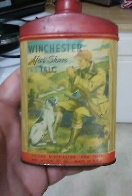 Vintage Winchester After Shave Talc Powder Tin