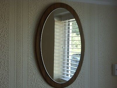 Vintage Retro Oval Wall Mirror G Plan Style Mid Century