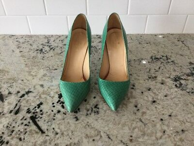 16002adf26ab KATE SPADE LICORICE Pumps Green Tuquoise Womens Shoes 8 Medium ...