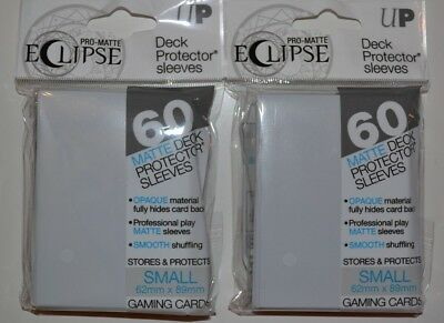 Ultra Pro Eclipse White Sleeves 60 Count Pack Yu-Gi-Oh! Size! Lot of 2!