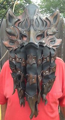 """Gothic / Fantasy """"Leather"""" Adult Mask - 24"""" Length / 16"""" Wide - Preowned"""