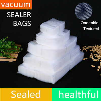 100×Vacuum Food Sealer Bags Clear Pouches Textured Storage Food Grade & BPA Free