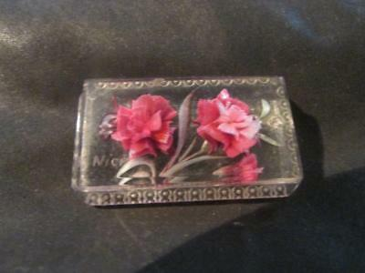 Lovely Vintage French Quality Reverse Carved Roses Lucite Brooch
