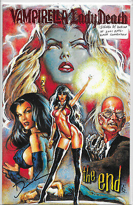 Vampirella Vs. Lady Death The End Red Foil Dynamic Forces Signed Variant NM