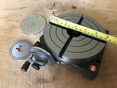 "LikeNew Emco 6"" Rotary table vise with indexing disks Maximat super 11"