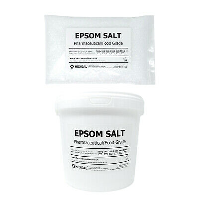 EPSOM SALT | Choose Size! | 1KG - 25KG Bag or Bucket | Pharmaceutical/Food Grade