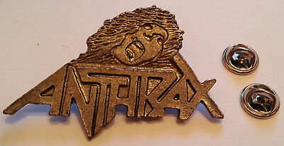 ANTHRAX LOGO HEAVY METAL vintage pin badge