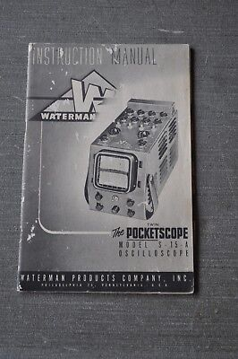 Waterman S-15-A Oscilloscope Pocketscope Manual, Radio Gear Manual