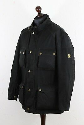 BELSTAFF Roadmaster Gold Label mens Motorcycle Waxed Jacket Sz 3XL 4XL Black