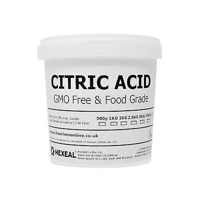 CITRIC ACID | Choose Size! | 1KG - 10KG Bucket | Fine | BP/FCC Food Grade