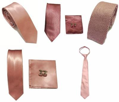3a8aaf027470 Dusty Pink Collection Woven Paisley Jacquard Silk Knitted Satin Tie Wedding  lot