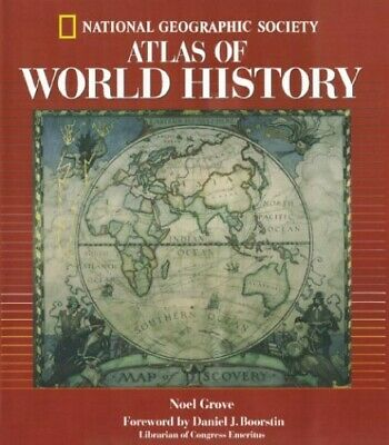 Atlas of World History by National Geographic Society Hardback Book The Cheap