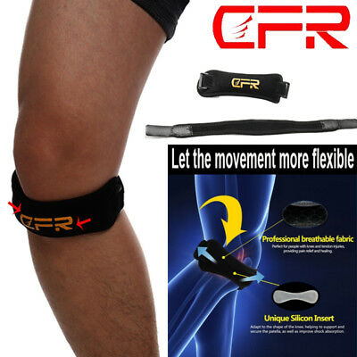 Adjustable Patella Knee Strap Support Tendon Brace Relieve Pain Running Sports A