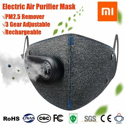☆N95 Xiaomi Anti-dust Air Mask Smog PM2.5 Purifier Filter Rechargable Respirator