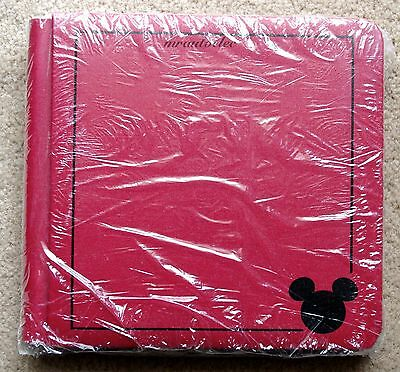 Creative Memories Disney Red 7x7 Album Coverset WITH PAGES with black Border