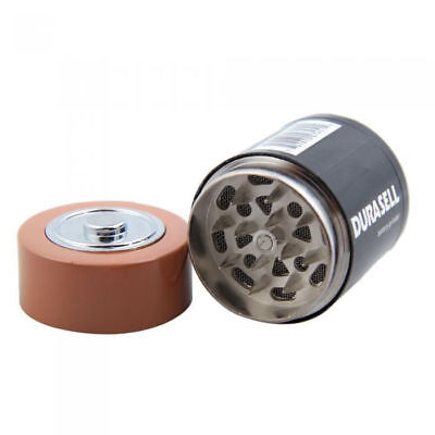 Battery STYLE  Zinc Alloy Crank Herb Mill Crusher Tobacco Smoke Grinder