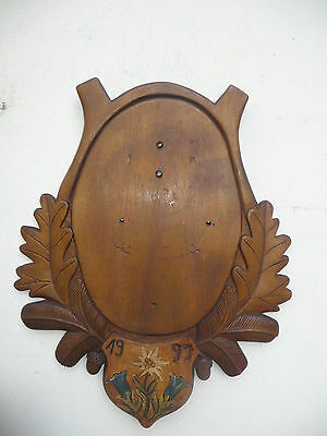 Big Black Forest Trophy Plaque For Your Own Trophy Or Carving Carved Edelweiss