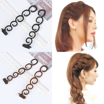 2pcs DIY Magic French Women Hair Braiding Twist Stylist Hairstyle Accessories