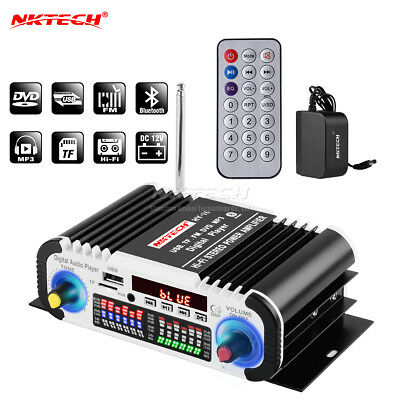 NKTECH HY-V6 Car Amplificador reproductor Bluetooth HiFi estéreo TF DVD MP3