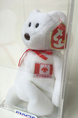 Ty Beanie Baby Maple Bear Oddity Upside Down Canada Flag Authenticated MWMT-MQ