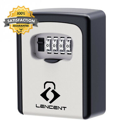 Key Lock Box, Lencent Wall Mounted Safe, Storage Box With Strong 4-Digit...